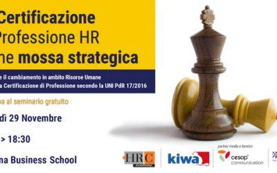 Certificazione di Professione HR: Partecipa al Seminario Gratuito!