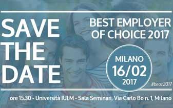16 febbraio, Milano, Best Employer of Choice 2017