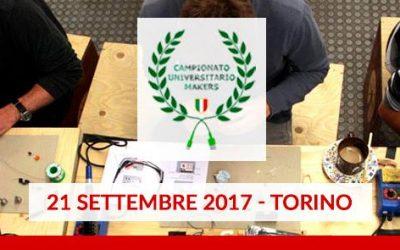 21 settembre, a Torino la nuova tappa del Campionato Universitario Makers 2017