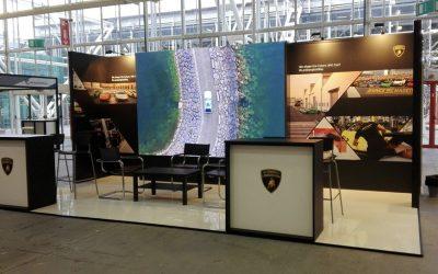 I nuovi stand di Lamborghini e BNP targati Cesop