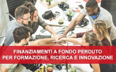 NUOVO BANDO FONCOOP – Formazione e consulenza per l'Innovazione nel Terzo Settore