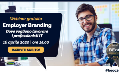 16 Aprile 2020 – Un Webinar sul mercato del lavoro IT – iscriviti gratuitamente